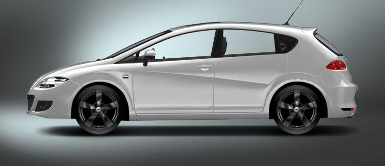 4 x dbv torino ii black 17 alloy wheels for seat leon. Black Bedroom Furniture Sets. Home Design Ideas